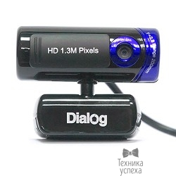Веб-камера Dialog WC-21 (U) BLACK-BLUE - 1.3M, HD, встр. микрофон, USB 2.0, черно-синяя