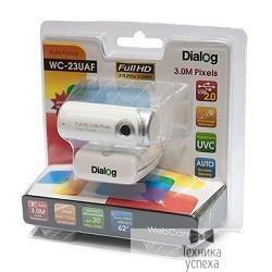 Веб-камера Dialog WC-23UAF WHITE-SILVER - 3.0M, автофокус, Full HD, встр. микр, USB2.0, бело-серебр.