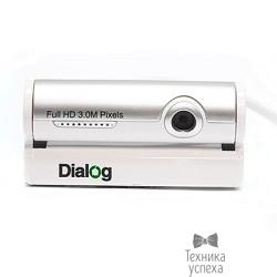 Веб-камера Dialog WC-33U WHITE-SILVER - 3.0M, Full HD, встр. микрофон, USB 2.0, бело-серебристая