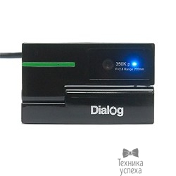 Веб-камера Dialog WC-50 (U) BLACK-GREEN - 350K, встр. микрофон, USB 2.0, черно-зеленая