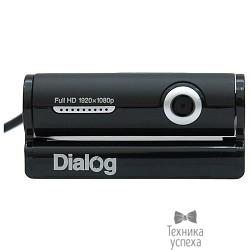 Веб-камера Dialog WC-33U BLACK-SILVER - 3.0M, Full HD, встр. микрофон, USB 2.0, черно-серебристая